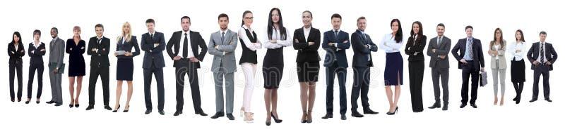 Photo panoramique d'une nombreuse équipe professionnelle d'affaires photos libres de droits