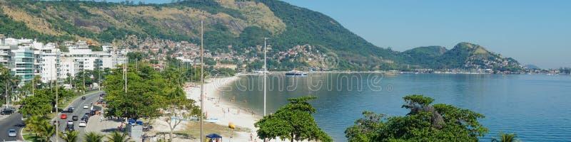 Photo panoramique de la plage de Charitas photo stock