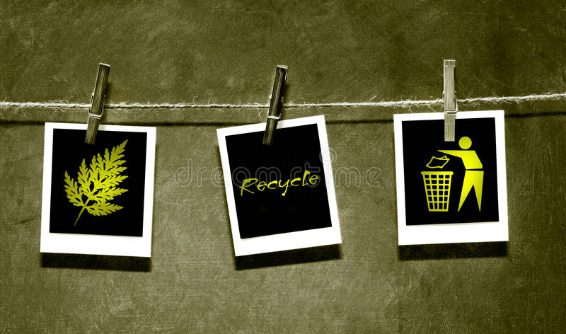 Photo paper attached to rope with pins. Photo paper attach to rope with clothes spins on grunge background royalty free illustration