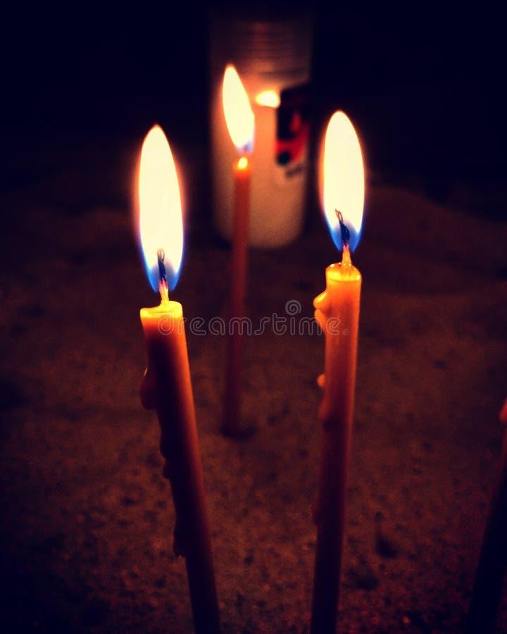 Photo par des bougies de lvov photographie stock libre de droits