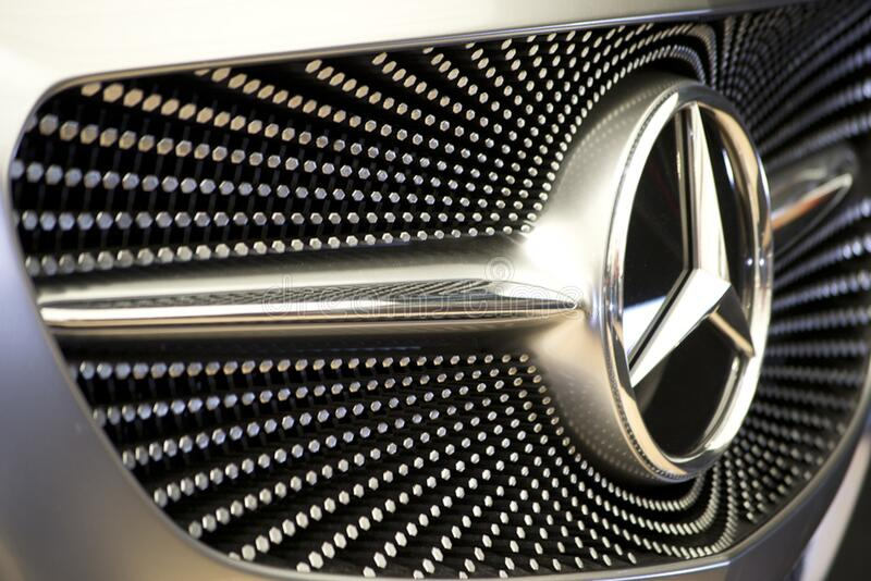 Photo of pattern on Mercedes concept car front grill. Silver hexagons create a starry sky motif. royalty free stock images