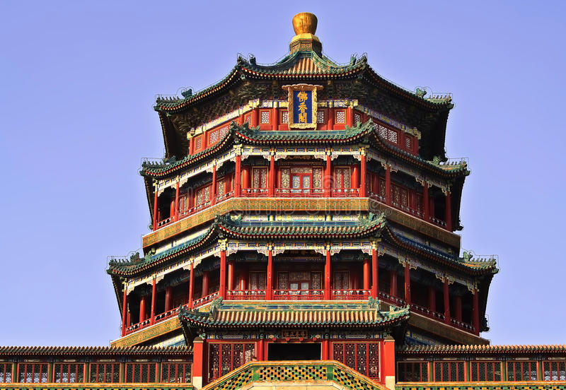 A photo of the Pavilion of the Fragrance of Buddha royalty free stock photography