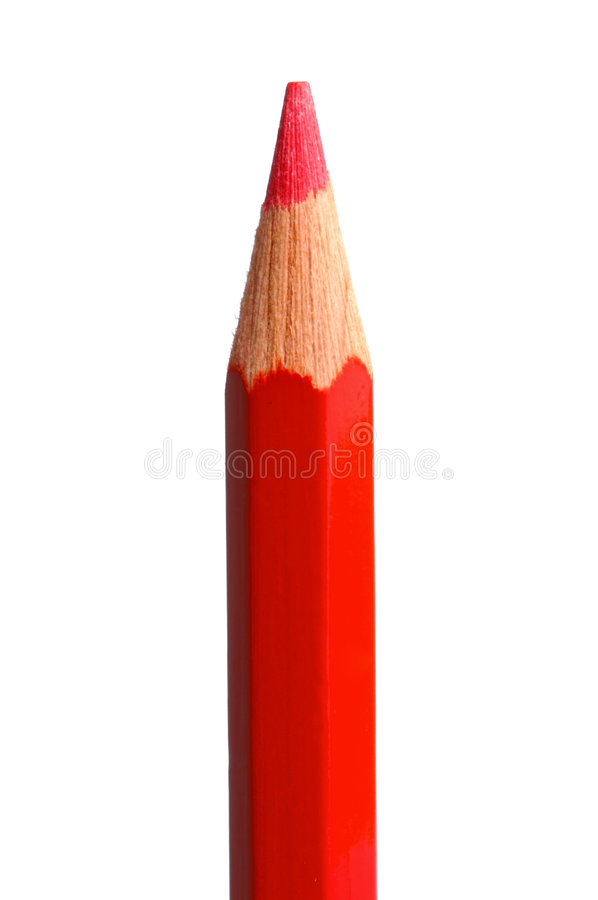Photo of pencil red. Over white background royalty free stock photography