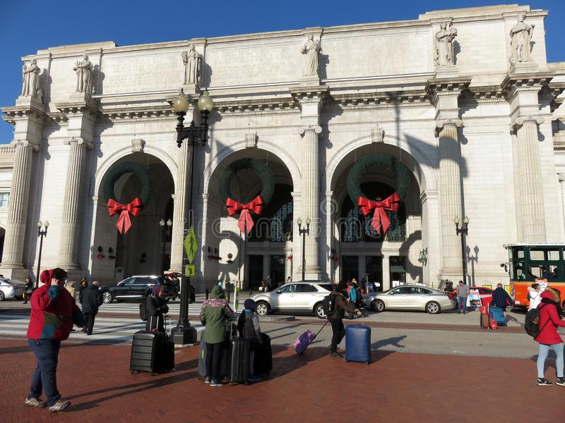 Holiday Travel at Union Station royalty free stock photo