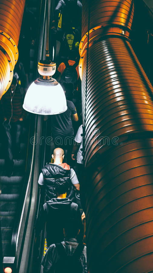 Photo Of People Using Escalator Inside A Building Free Public Domain Cc0 Image