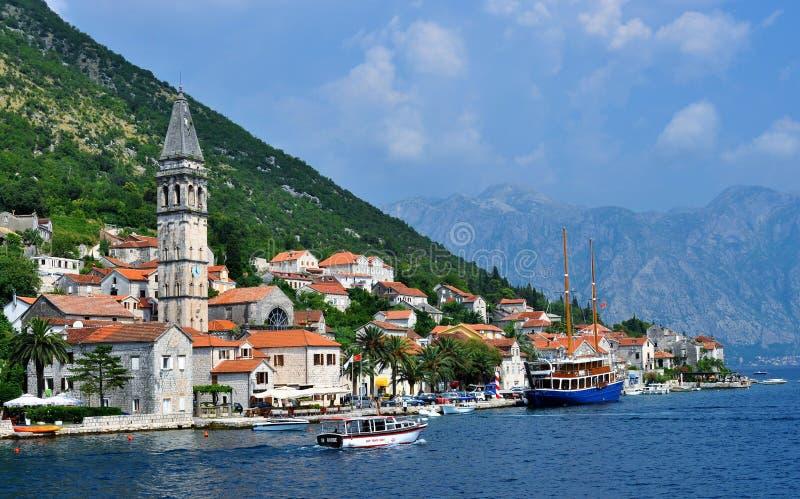 St. Nikola Church tower at Perast royalty free stock image