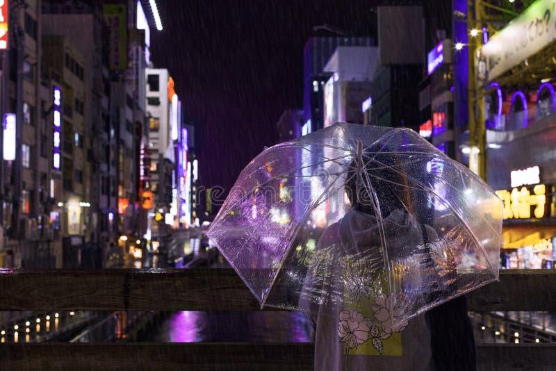 Photo of a Person Holding an Umbrella stock photos