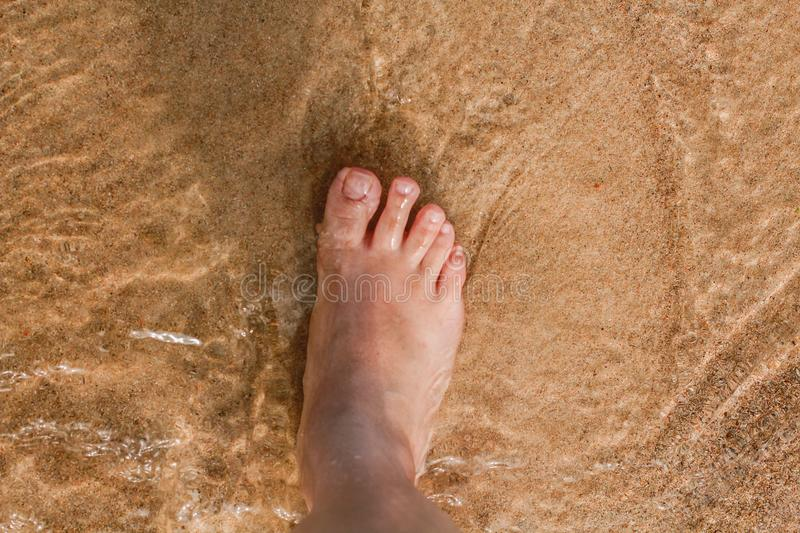 Photo of Person Right Foot royalty free stock photos