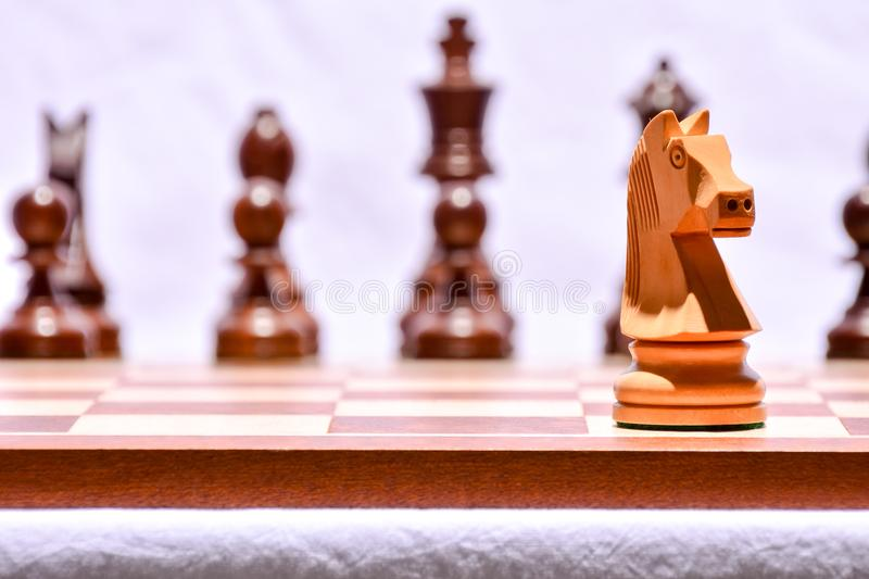 Wooden Chess Piece. Photo Picture of the Classic Wooden Chess Piece stock photo