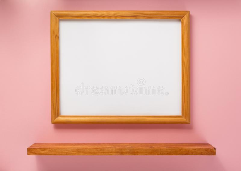 Photo picture frame at abstract background royalty free stock photography