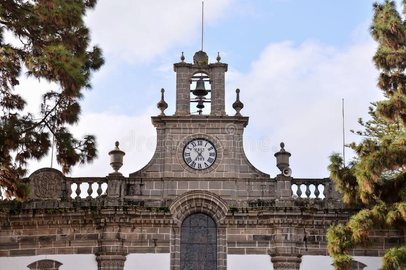 Small Church in Las Palmas Spain. Photo Picture of a Small Church Las Palmas in Spain stock image