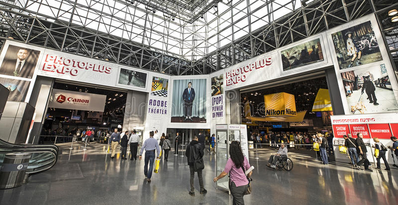 2016 Photo Plus International Expo and Conference Trade Show. Consumers and professionals attend the 2016 Photo Plus International Expo and Conference Trade Show royalty free stock photo