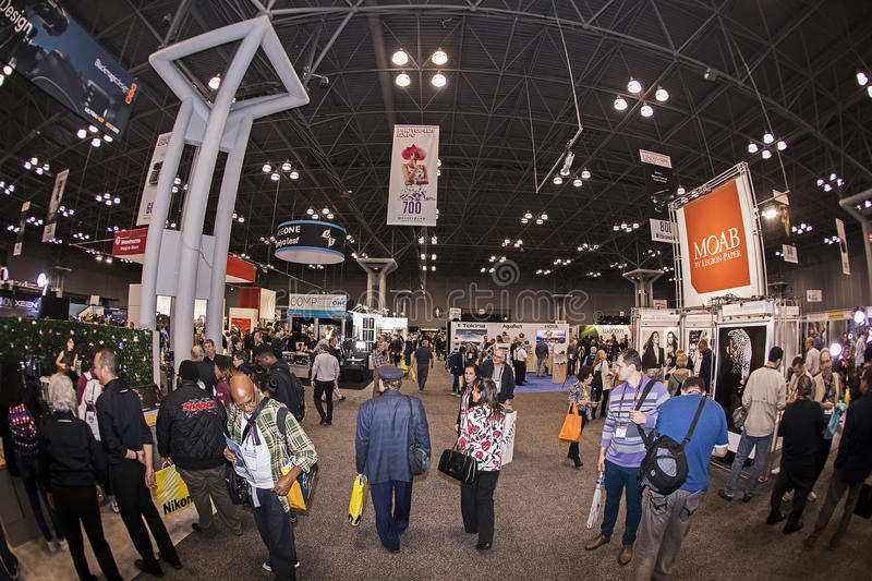 2016 Photo Plus International Expo and Conference Trade Show. Consumers and professionals attend the 2016 Photo Plus International Expo and Conference Trade Show stock photo