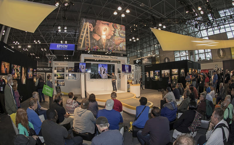 2016 Photo Plus International Expo and Conference Trade Show. Consumers and professionals attend the 2016 Photo Plus International Expo and Conference Trade Show stock photos
