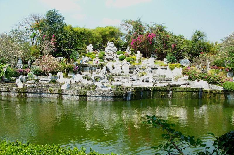 Pong in Thailand rock garden. Photo of Pong, trees and flowers in Thailand rock garden royalty free stock images