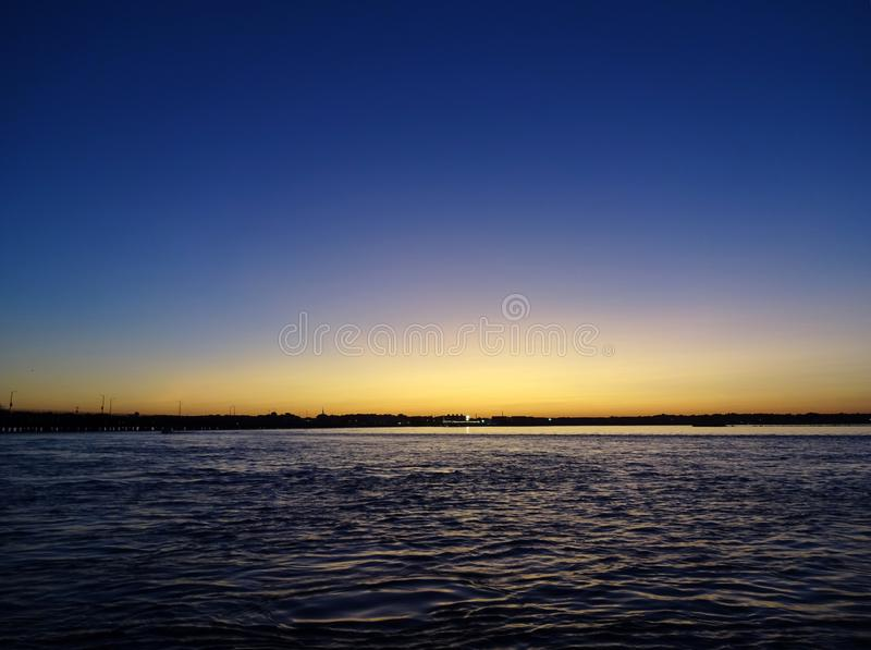 Sunset on the Bay in Ocean City Maryland royalty free stock image