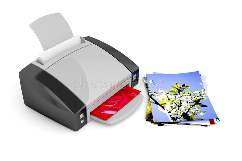 Photo printer royalty free illustration