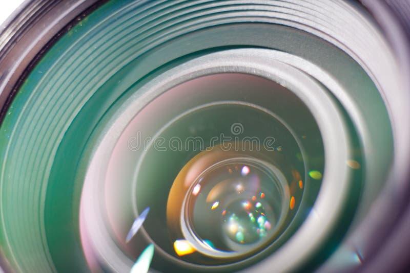 Photo professionnelle de plan rapproché de lentille d'appareil-photo images libres de droits