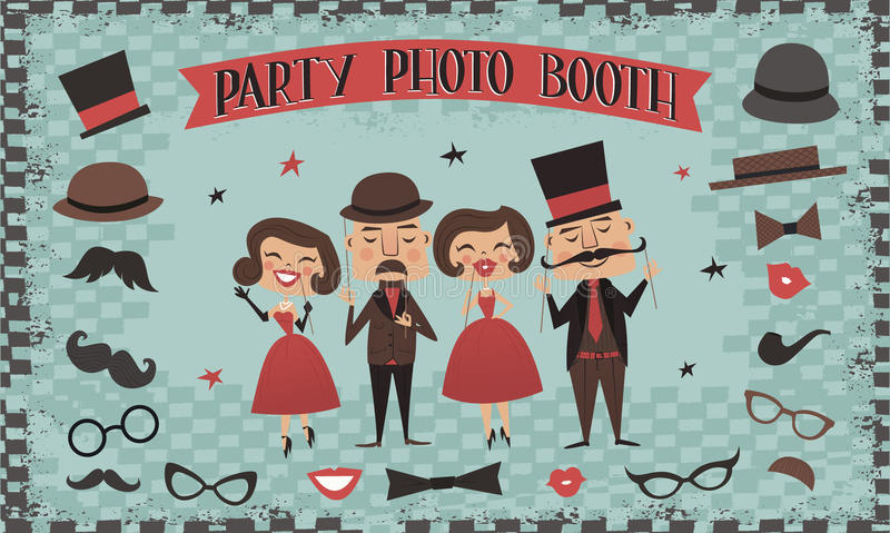 Photo props collections. Best accessories for party stock images