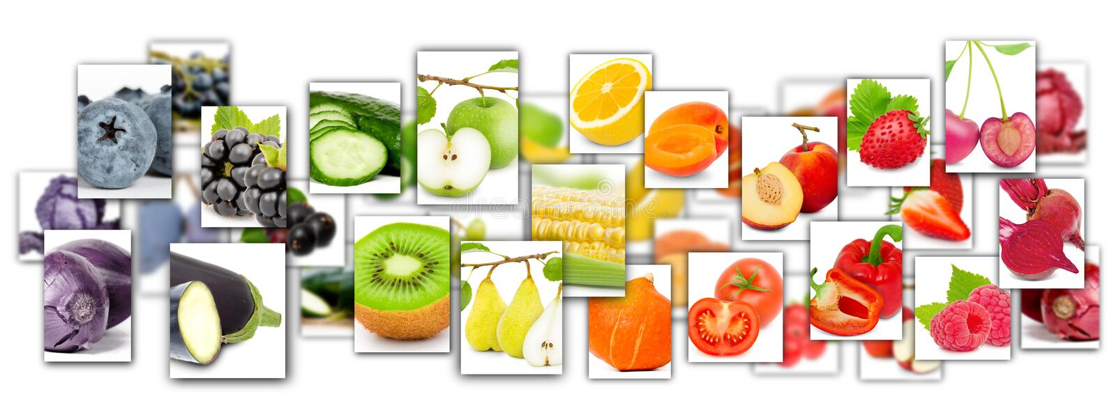 Fruit and Vegetable Mix stock images