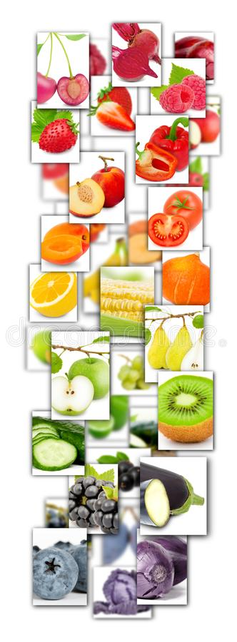 Fruit and Vegetable Mix royalty free stock image