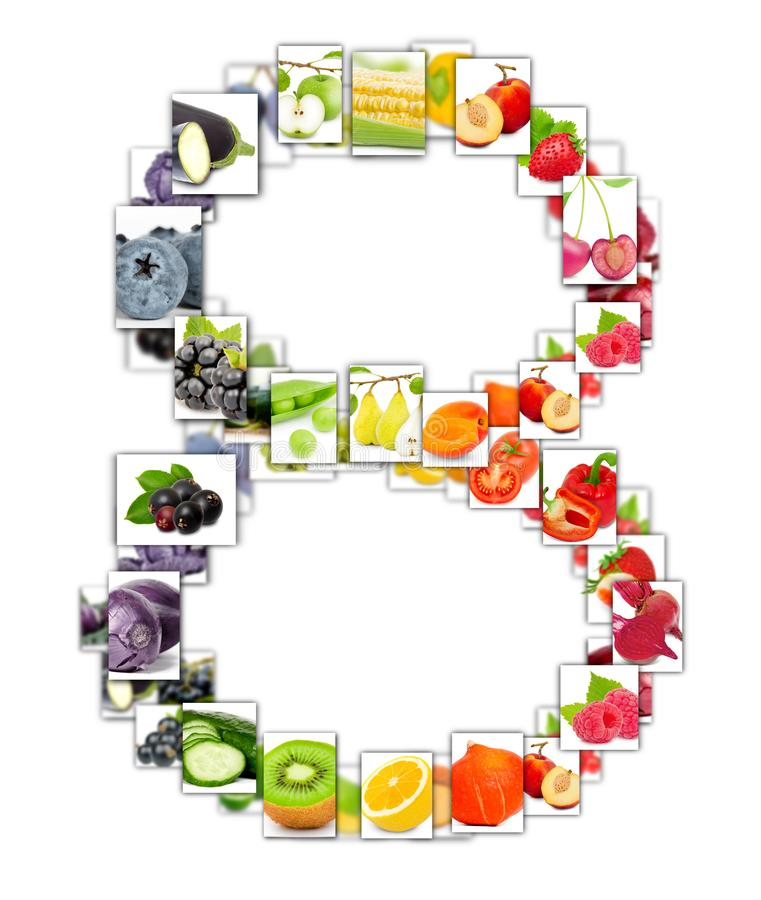 Fruit and Vegetable Letter stock image