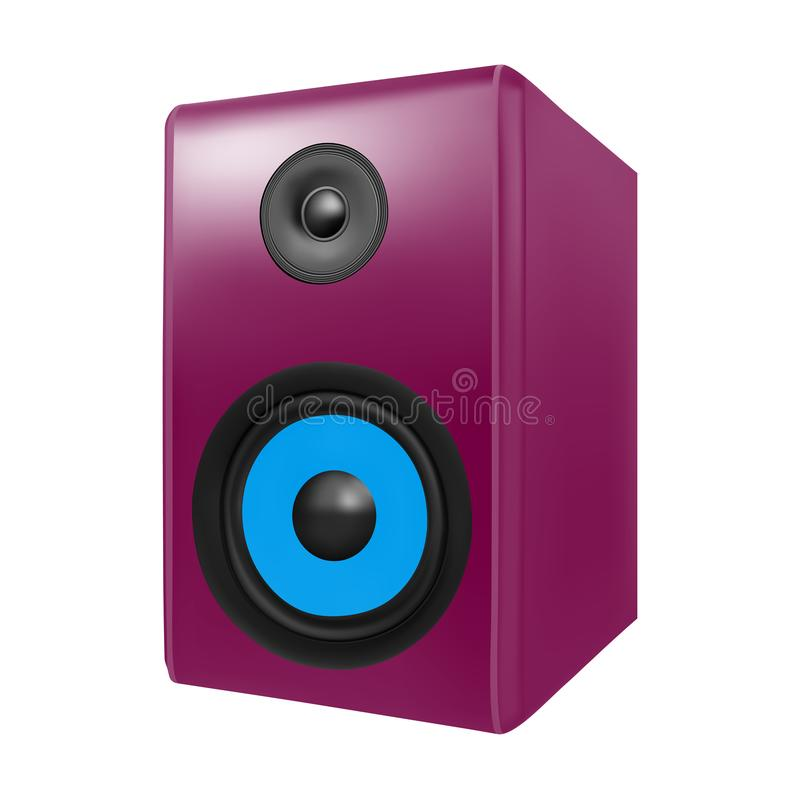 Photo realistic audio speakers in. On white background royalty free illustration