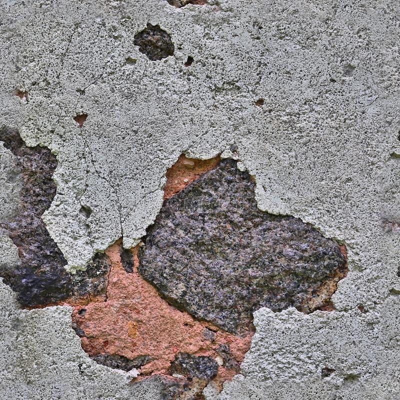 Photo realistic seemless texture pattern of colorful peeling paint on conrete walls. Found in europe royalty free stock image