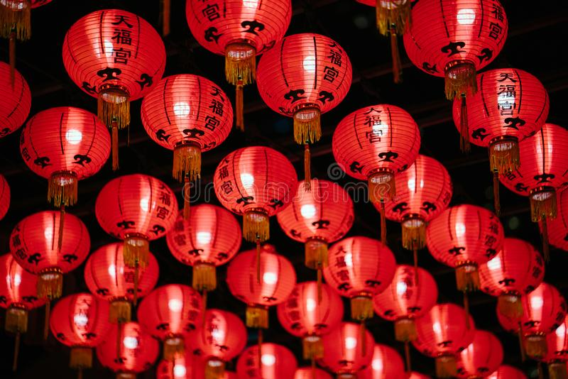 Photo of Red Paper Lanterns royalty free stock photos