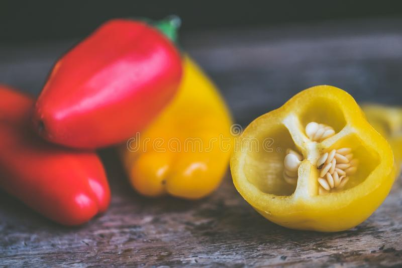 Photo of Red and Yellow Peppers stock photo