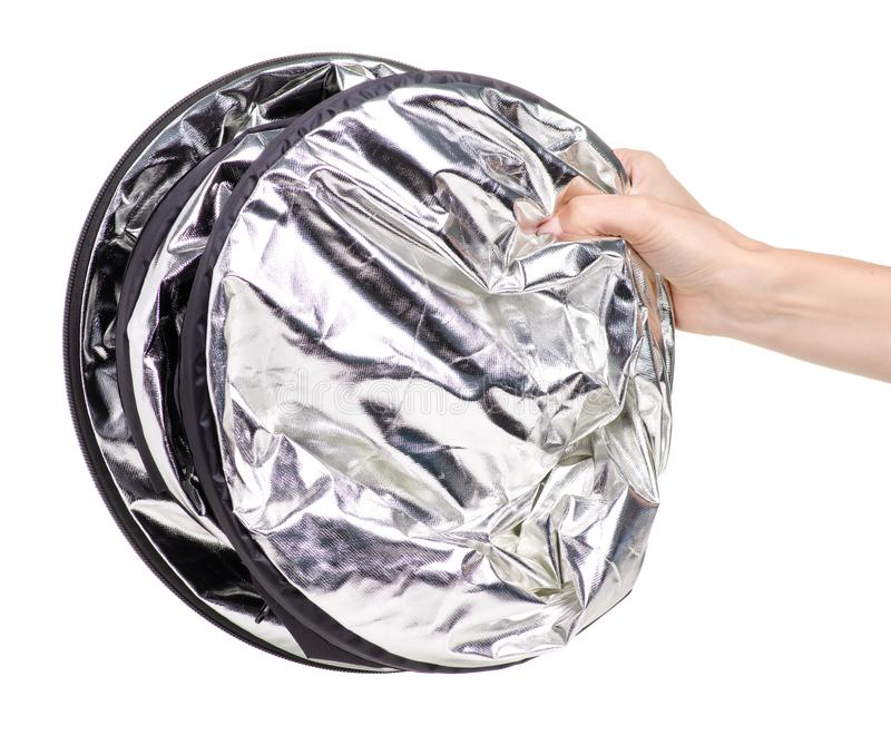 Photo reflector in hand royalty free stock photos