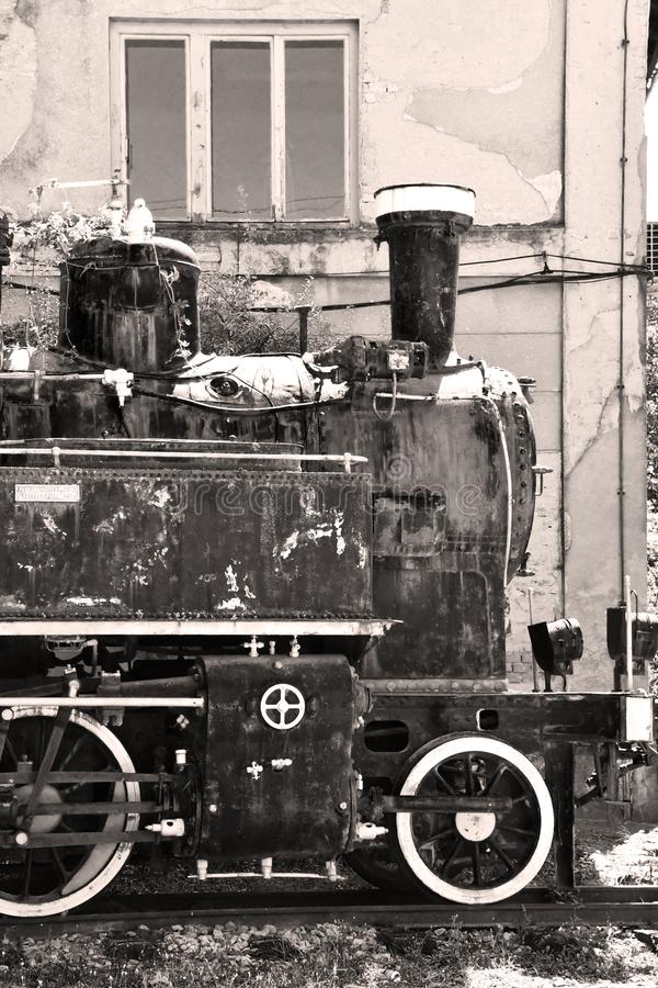 Old Yugoslavian locomotive in Vrsac, Serbia. Photo represents very old Yugoslavian locomotive which is located in front of train station in Vrsac, Serbia royalty free stock photo