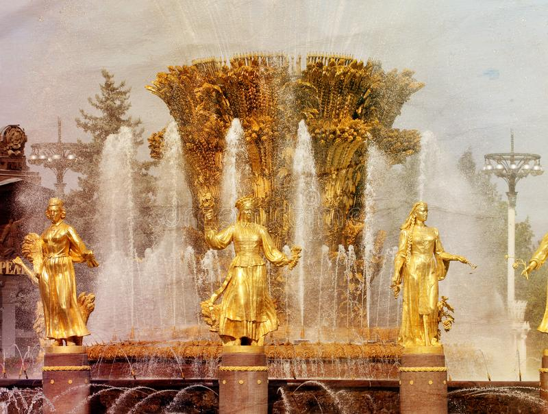 Photo of a retro fountain sculpture royalty free stock image