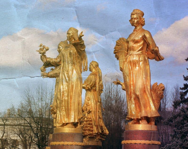 Photo of a retro fountain sculpture royalty free stock photos