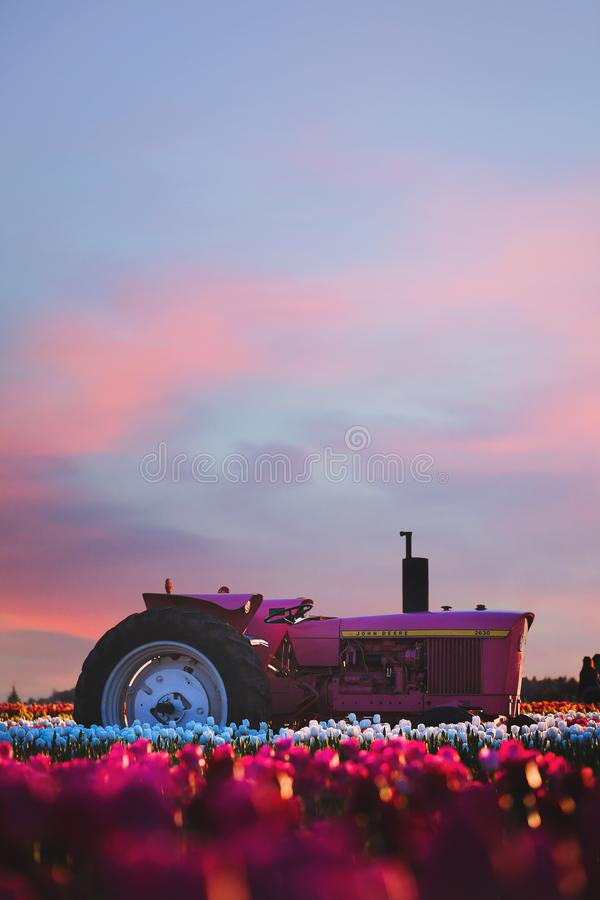 Photo of Ride-on Tractor during Sunset stock photo