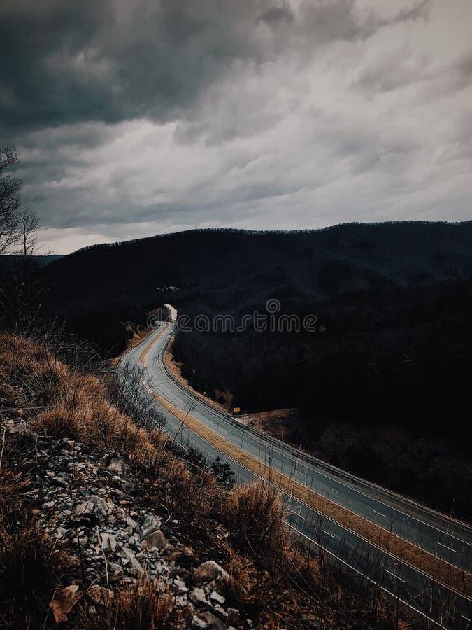 Photo of Road Near Mountains royalty free stock photo