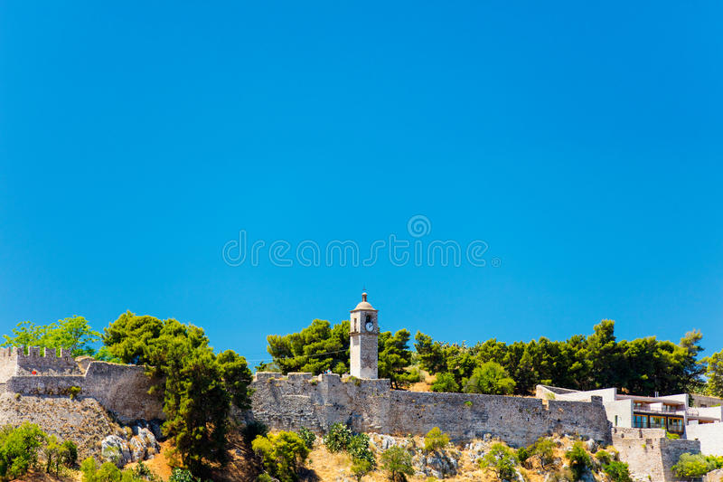 Photo of the ruined chapel royalty free stock image