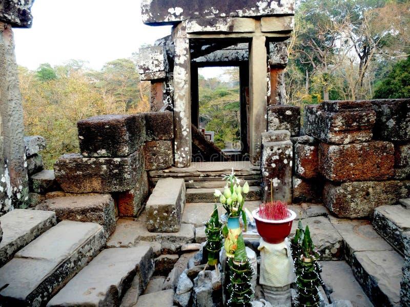 Royal Enclosure Angkor stock images