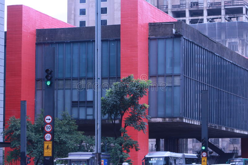 Masp av. Paulista royalty free stock photos