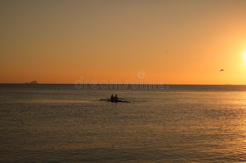 Photo of Sea during Sunset stock image