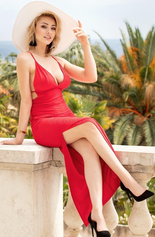 Photo of blonde elegant lady. stock photos