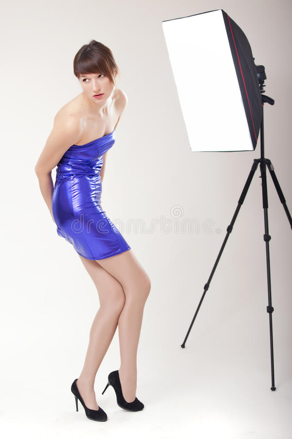 Photo session in studio royalty free stock photos