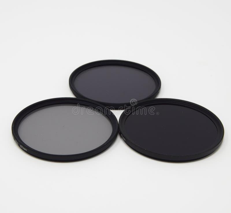 Neutral Density Filter set stock image