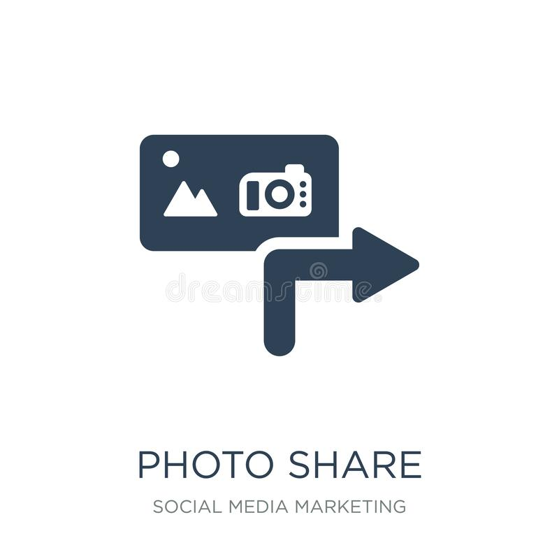photo share icon in trendy design style. photo share icon isolated on white background. photo share vector icon simple and modern vector illustration