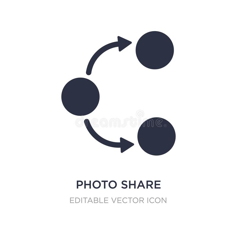 photo share icon on white background. Simple element illustration from Social media marketing concept stock illustration