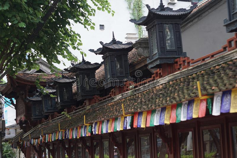 Old pagoda in Hanoi Vietnam royalty free stock images