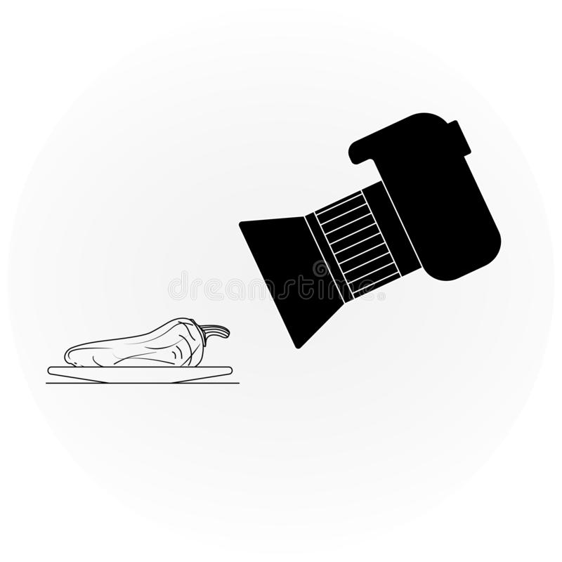 Photo shooting objects icon royalty free illustration