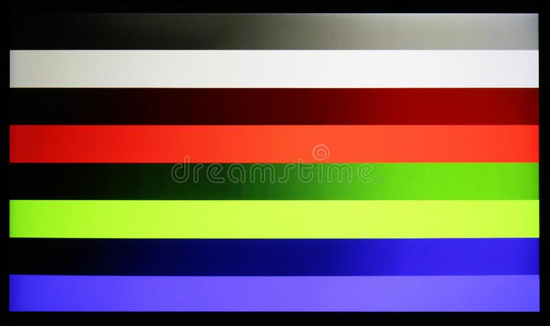 Photo shot of standard industrial color horizontal bars test pat stock photo