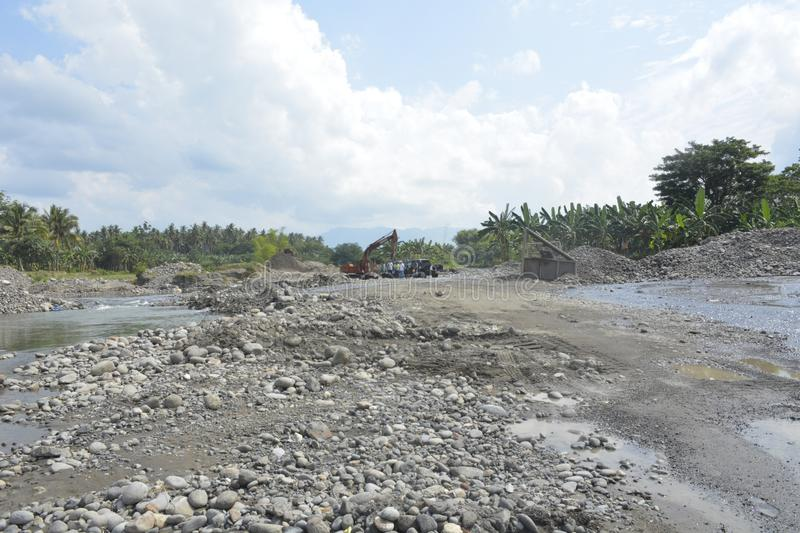 Course Sand at Mal riverbed, Matanao, Davao del Sur, Philippines. This photo shows the course sand at Mal riverbed, Matanao, Davao del Sur, Philippines stock image