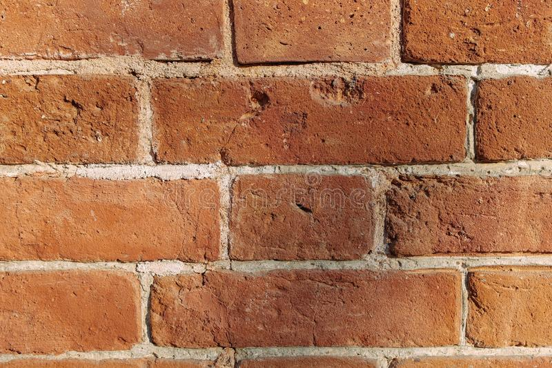 An old brown brick wall close up stock photography